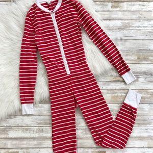 J. Crew Factory Red Striped Union Suit Onesie